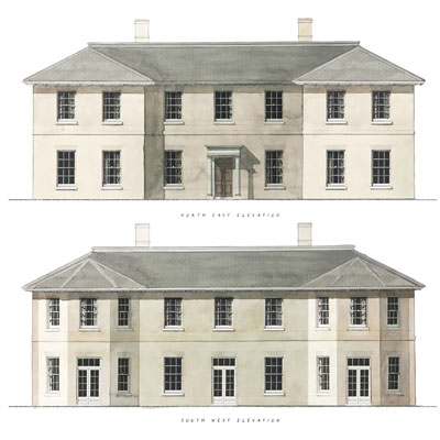 Elevations of a New House in Berkshire, Francis Terry 2019.