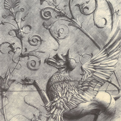 Plasterwork design of Griffin by Francis Terry, 1990.