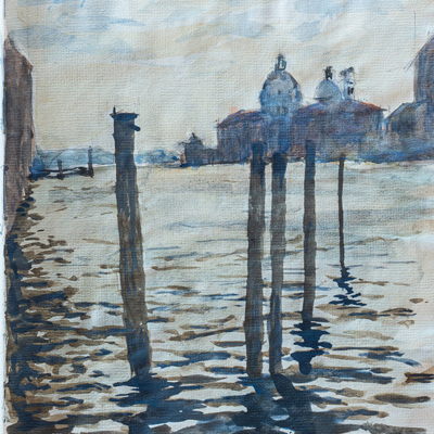 The Grand Canal, Venice, watercolour by Francis Terry, 1987.