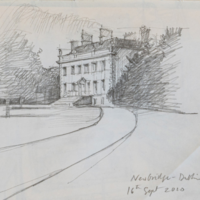 Newbridge, drawn by Francis Terry, pencil, 2009.
