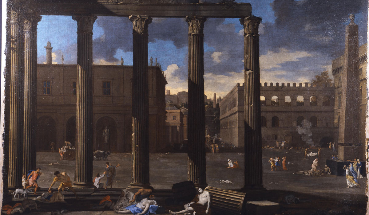 La Peste, Rome by Thomas Blanchet c 1625. On loan to Auckland Castle