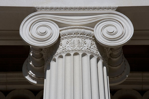 Portico Capital detail straight view