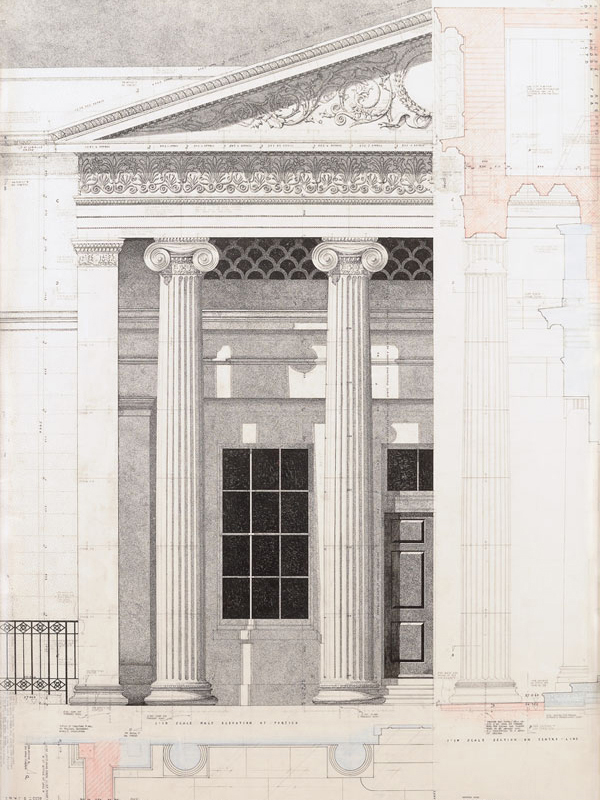 Working drawing of Portico