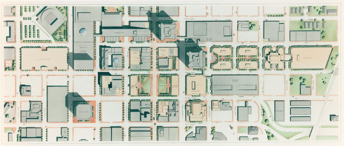 Site plan of downtown Fort Worth