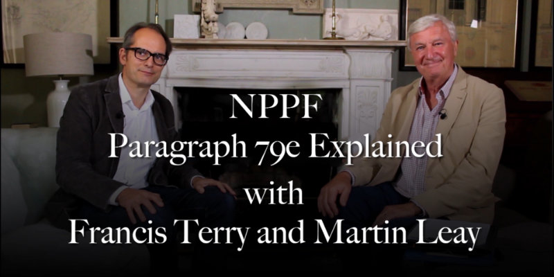 Francis Terry and Martin Leay discuss NPPF paragraph 79e