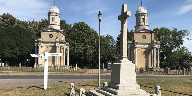 The Mistley Towers  - Piazza Navona in Essex