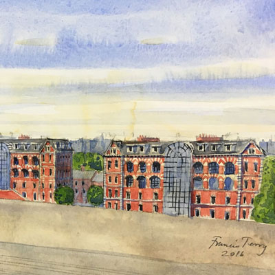 Proposal for West Hampstead seen from Railway