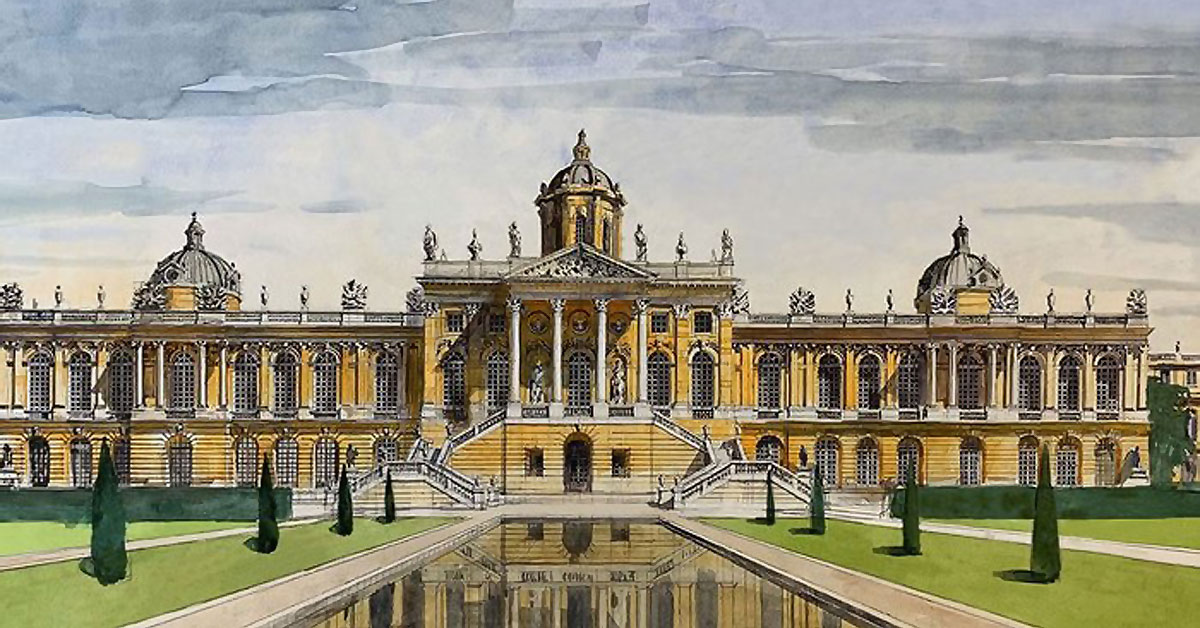 Francis Terry's Versailles Redesigned drawings take practitioner commended place in Eye Line 2020